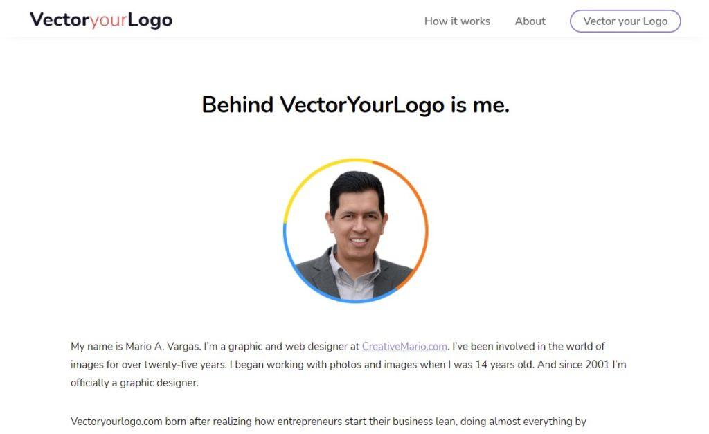 Screenshot vectoryourlogo about